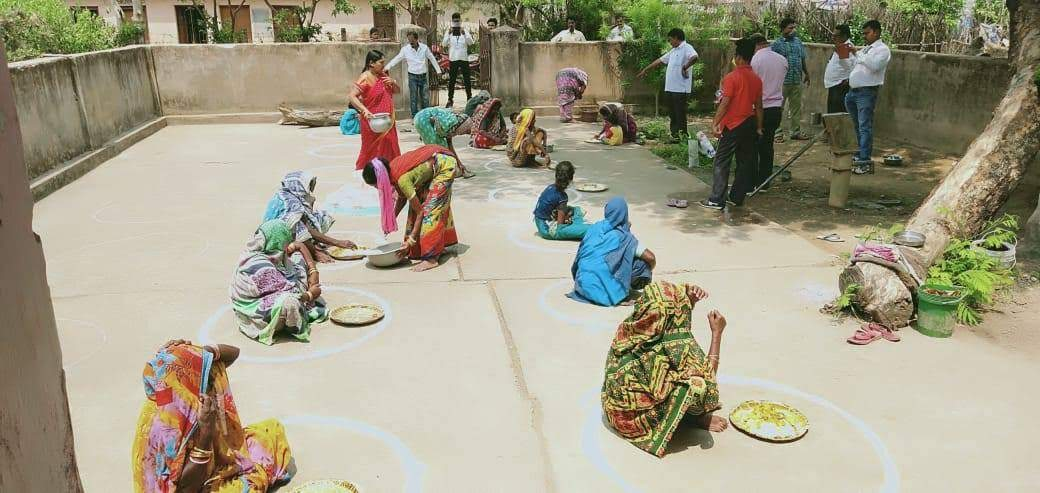 Hot cooked meal at panchayat level