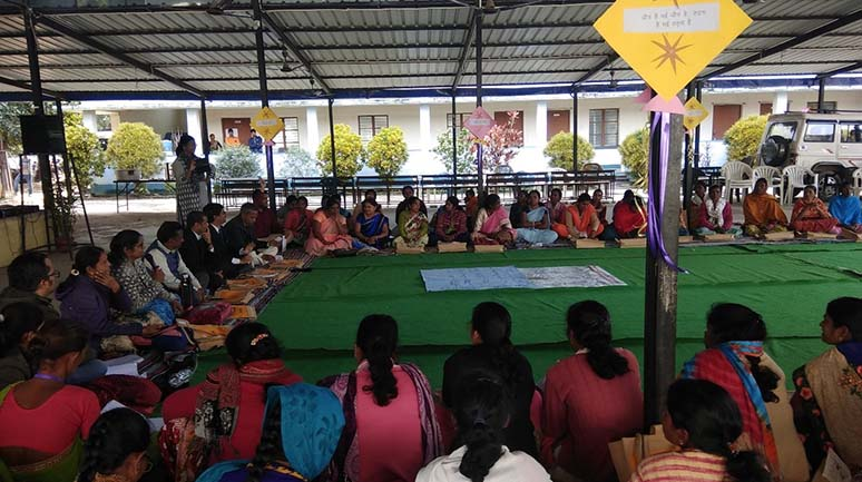 Women-Collective-members-attending-Gender-learning-camp